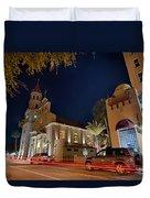 St Augustine City Street Scenes Atnight Duvet Cover