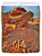 Sunrise On Valley Of Fire Duvet Cover