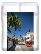 Tuk Tuk Trike Taxi Local Transport In Boracay Island Philippines Duvet Cover