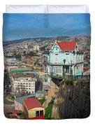 Valparaiso, Chile Duvet Cover