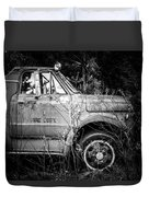 Vintage Autos In Black And White Duvet Cover