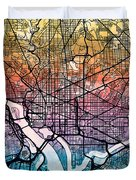 Washington Dc Street Map Duvet Cover