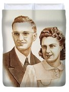 70 Years Together Duvet Cover