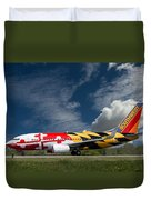 737 Maryland On Take-off Roll Duvet Cover
