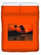 75 Island Sunset Duvet Cover