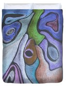 #758 Abstract Drawing Duvet Cover