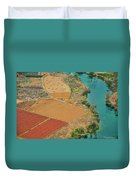 Rice Fields Scenery In Autumn Duvet Cover by Carl Ning