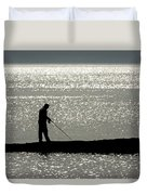 78. One Man And His Rod Duvet Cover
