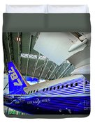 787 Tail Section Duvet Cover