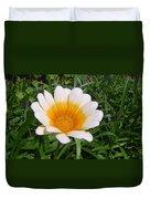 Australia - White Yellow Daisy Flower Duvet Cover