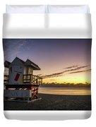 7901- Miami Beach Sunrise Duvet Cover