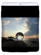 8-26-16--5878 Don't Drop The Crystal Ball, Crystal Ball Photography Duvet Cover