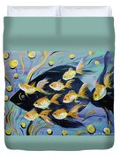 8 Gold Fish Duvet Cover