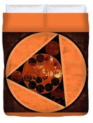 Abstract Painting - Zinnwaldite Brown Duvet Cover