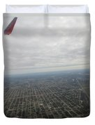 An Aerial View Of Fort Myers Duvet Cover