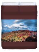 Beautiful Autumn Landscape In North Carolina Mountains Duvet Cover