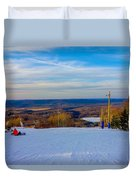 Beautiful Winter Landscape At Timberline West Virginia Duvet Cover