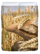 Bread And Wheat Cereal Crops. Duvet Cover by Deyan Georgiev