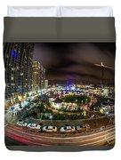 Charlotte City Skyline At Night  Duvet Cover