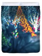 Christmas Season Decorationsafter Sunset At The Gardens Duvet Cover