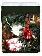 Christmas Tree Decorations Duvet Cover