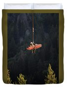 Climber Rescue Operation In Yosemite Duvet Cover