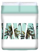 Coconut Palm In Hawaii, Usa. Duvet Cover