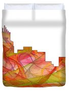 Durham North Carolina Skyline Duvet Cover