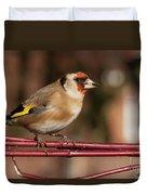 European Goldfinch Bird Close Up   Duvet Cover