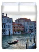 Gondola, Canals Of Venice, Italy Duvet Cover