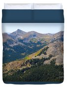 Autumn Tundra Turning To Gold  On Mount Yale Colorado Duvet Cover