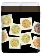 Ishihara Color Blindness Test Duvet Cover