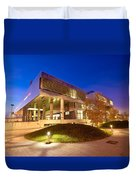 Museum Of Contemporary Art In Zagreb Exterior  Duvet Cover