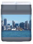 New Zealand - The Sea Heart Of Auckland Duvet Cover