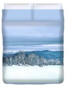 North Carolina Sugar Mountain Skiing Resort Destination Duvet Cover