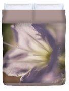 Pastel Purple Flowers Duvet Cover