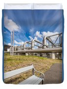 Pipes At Nesjavellir Geothermal Power Duvet Cover