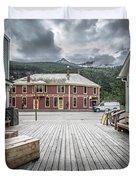 Port Of Skagway Alaska Near White Pass British Columbia Canada Duvet Cover