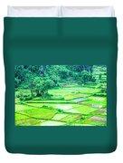 Rice Fields Scenery Duvet Cover