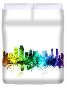 San Diego California Skyline Duvet Cover