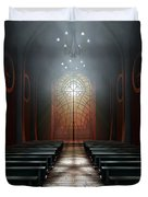 Stained Glass Window Church Duvet Cover