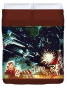 Star Wars Galactic Heroes Art Duvet Cover