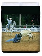 Steer Roping Duvet Cover