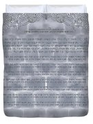 Sukkot-ushpizin Prayer- The Hosts... Duvet Cover