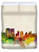 Sydney Australia Skyline Duvet Cover