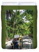Tuk Tuk Trike Taxi Local Transport In Boracay Island Philippines Duvet Cover