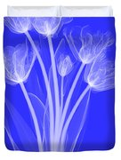 Tulips, X-ray Duvet Cover