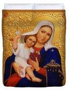 Virgin And Child Painting Religious Art Duvet Cover