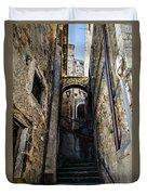 Walking Through The Streets Of Pretoro - Italy  Duvet Cover