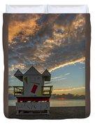8003- Miami Beach Sunrise Duvet Cover